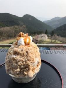 蕎麦屋のかき氷・カフェオレキャラメルナッツ(東栄町・茶禅一)