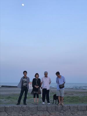 静岡旅行・夕暮れの静波海岸