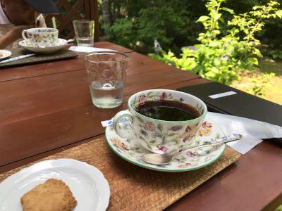 カフェ・こもれびにて(南信州・平谷村)
